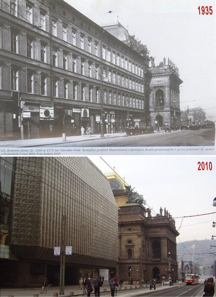 Národní třída - srovnávaci fotografii vytvořil Václav Víšek - http://srovnavacifotky.blogspot.cz/2014/08/seznam-podle-obci.html