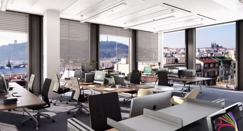 Kancelář s výhledem na Petřín - autor Quadrio