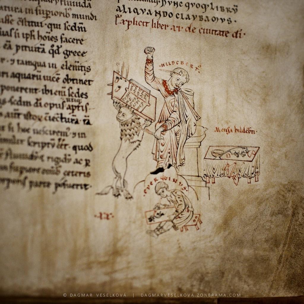 Hildebert a Everwin; rukopis De civitate Dei  - Foto: Dagmar Veselková