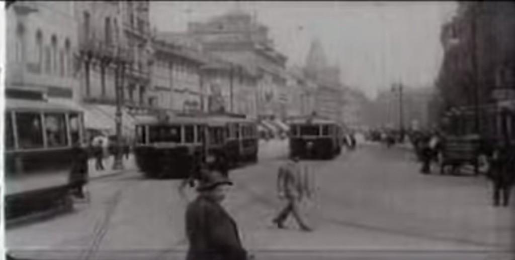 Na Příkopech - Repro: Stará Praha 1912