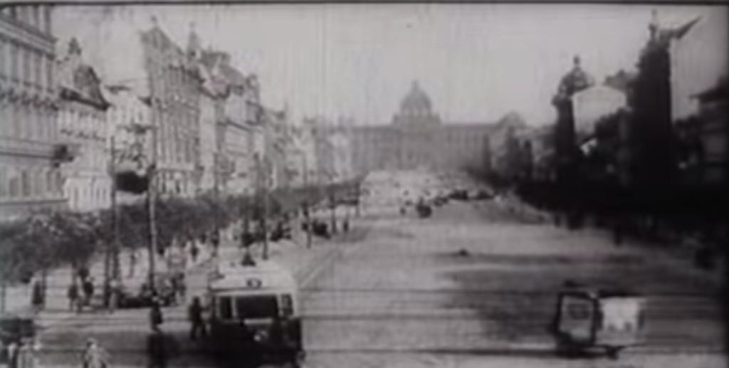 Václavské náměstí v roce 1912 - Repro: Stará Praha 1912