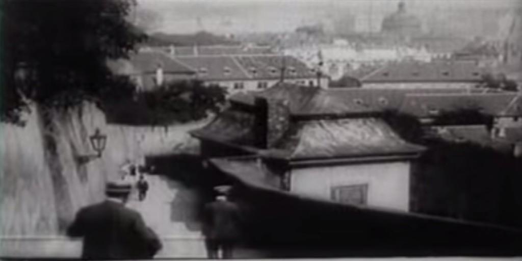 Staré zámecké schody - Repro: Stará Praha 1912