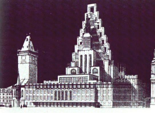 Návrh J. Gočára (1909)