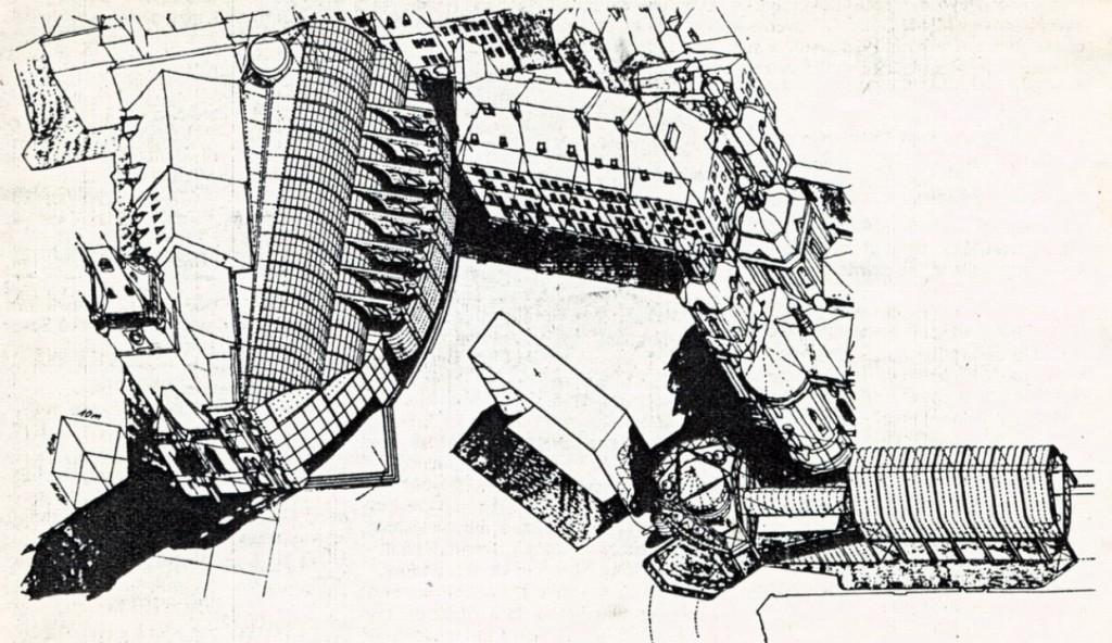 Návrh Louda, Kulík Stýblo 1988 včeteně lanovky na Letnou