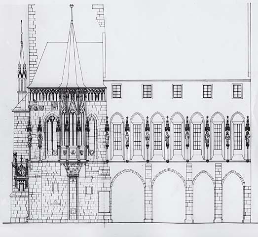 Návrh na dostavbu podle architektů Františka Kašičky a Milana Pavlíka