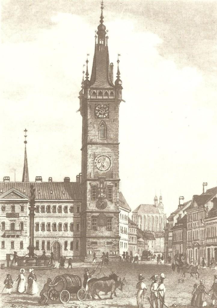 Orloj na zobrazení z roku 1863