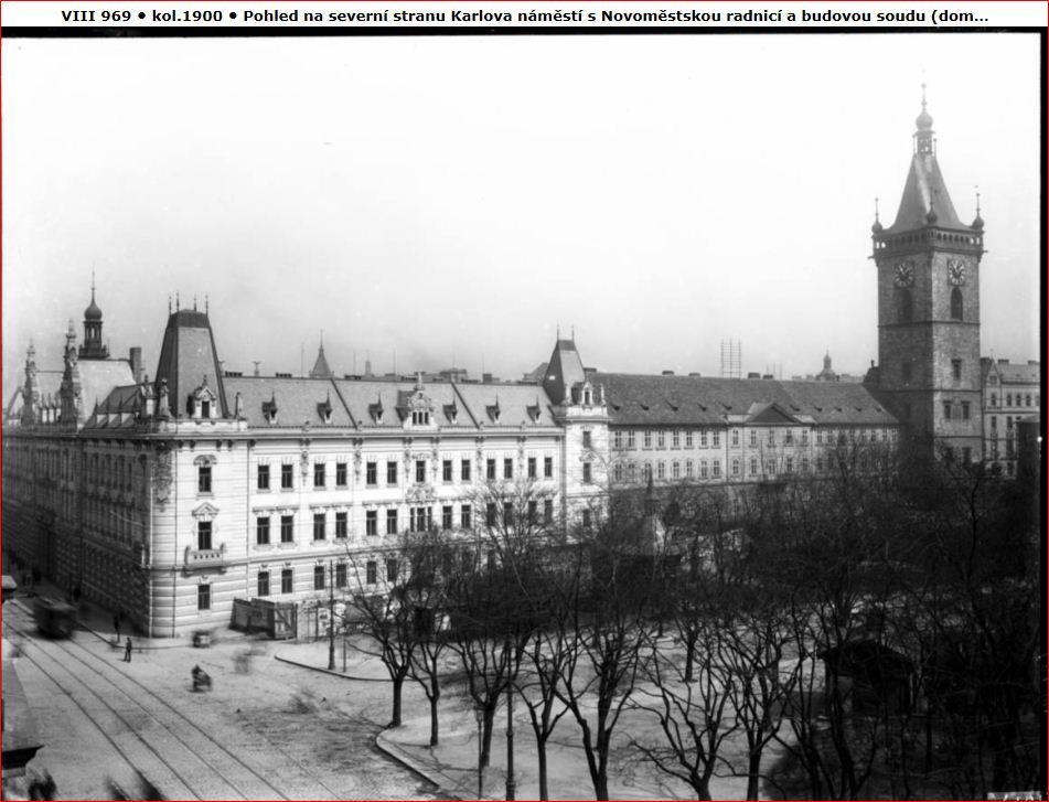 Budova soudu a radnice na Karlově náměstí