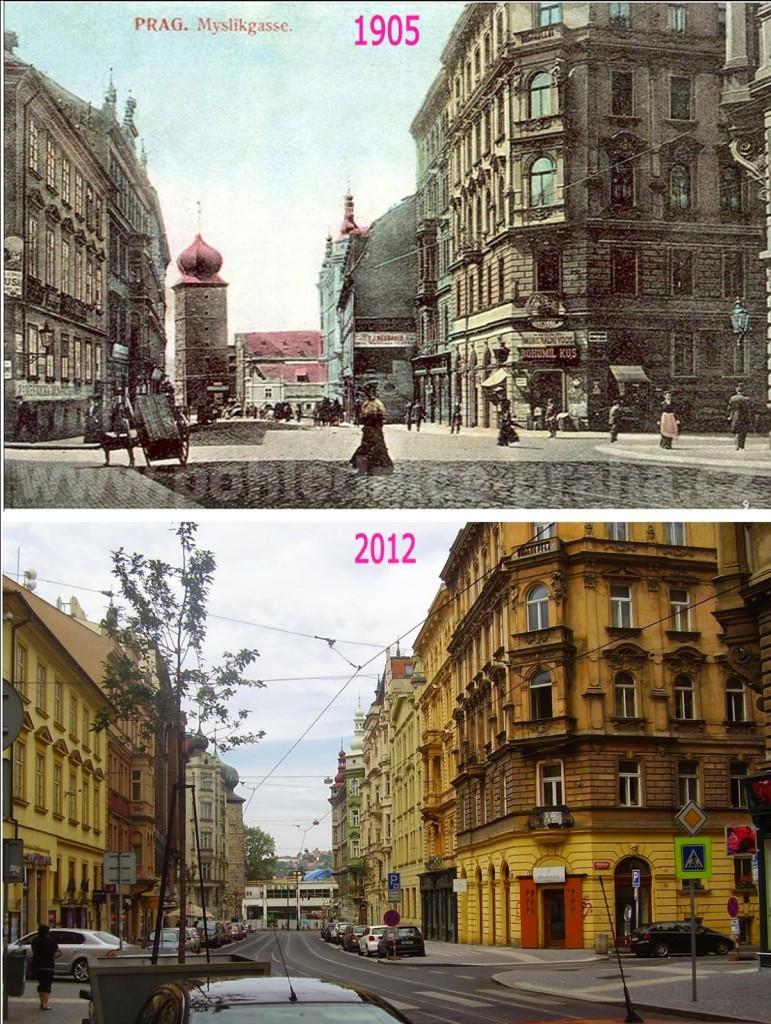 Nové Město, Myslíkova 2 - Foto a koláž: Václav Víšek