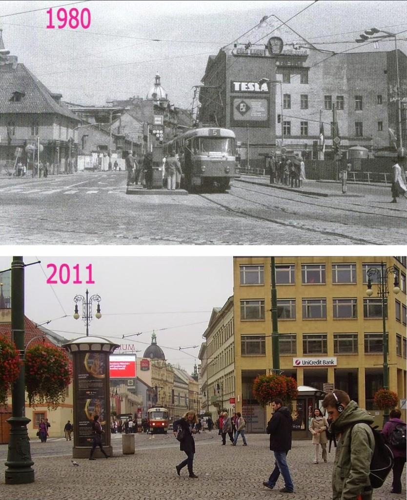 Nové Město, Náměstí Republiky 3 - Foto a koláž: Václav Víšek