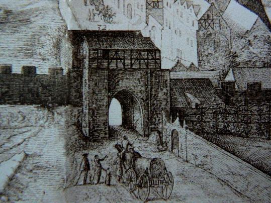 Újezdská brána v roce 1606