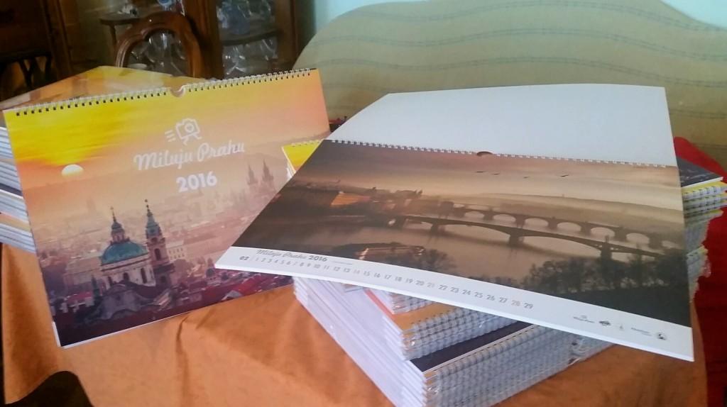 Signální výtisky kalendáře Miluju Prahu 2016 - Foto: David Černý