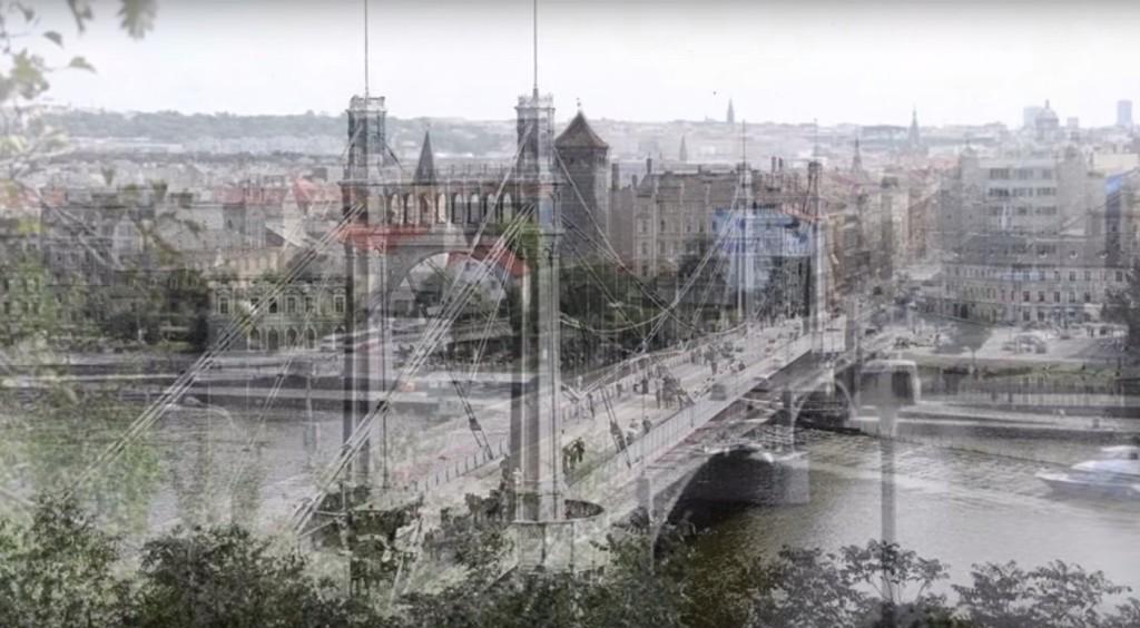 Praha dnes a před 100 lety