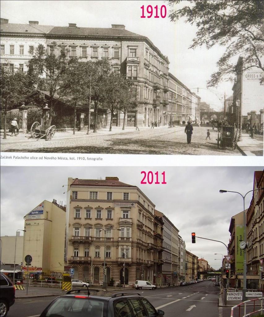 Karlín, Křižíkova ulice – Foto a koláž: Václav Víšek
