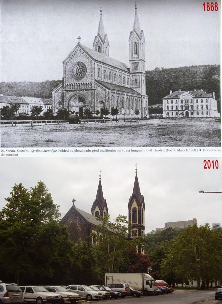 Karlín, kostel svatého Cyrila a Metoděje – Foto a koláž: Václav Víšek