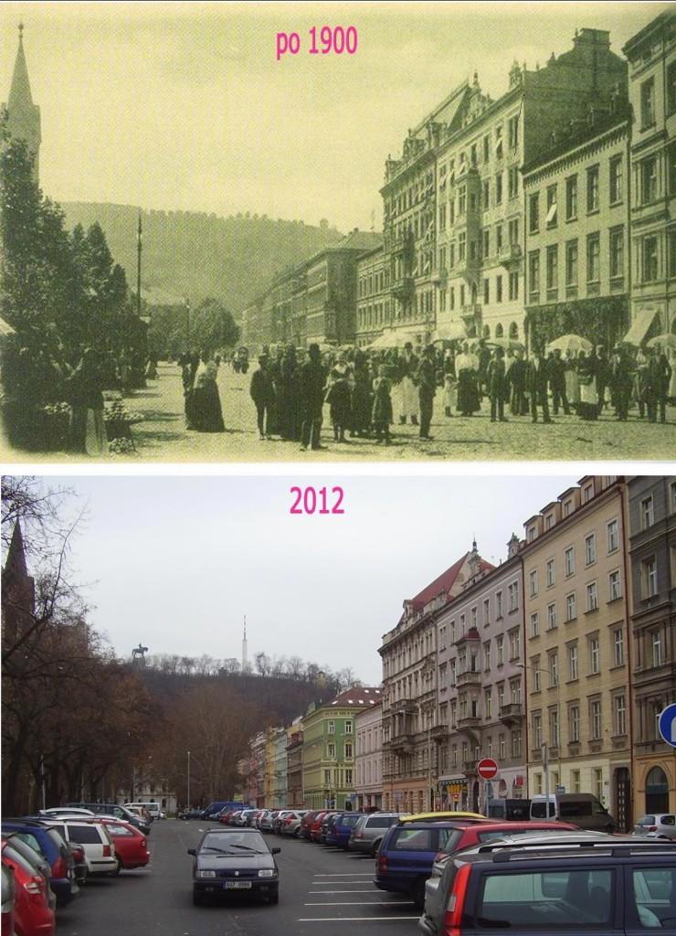 Karlínské náměstí – Foto a koláž: Václav Víšek