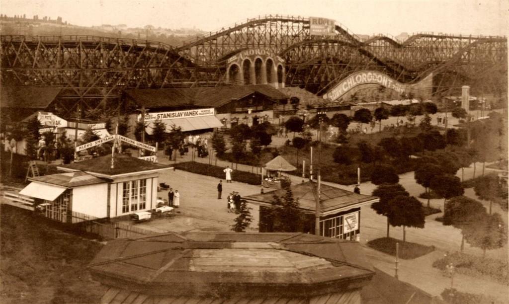 Horská dráha v předválečném lunaparku v Edenu dosahovala až 5 kilometrů