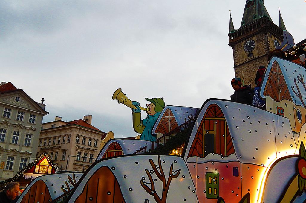 Staroměstské náměstí ve stylu Josefa Lady - Foto: Eli Mandažieva