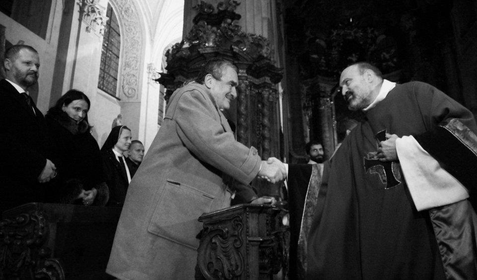 Karel Schwarzenberga a Tomáš Halík - Foto: Eugen Kukla