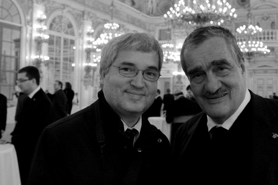 Fotograf Václava Havla Tomki Němec a přítel prezidenta Karel Schwarzenberg - Foto: Eugen Kukla