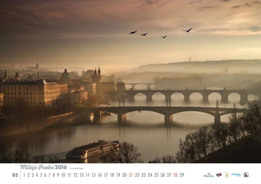Únor v kalendáři Miluju Prahu - Foto: Charlie Fotograf