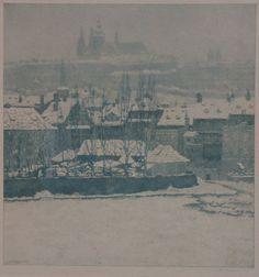 Zimní Praha - Foto: Jaromír Stretti Zamponi (1882-1959)