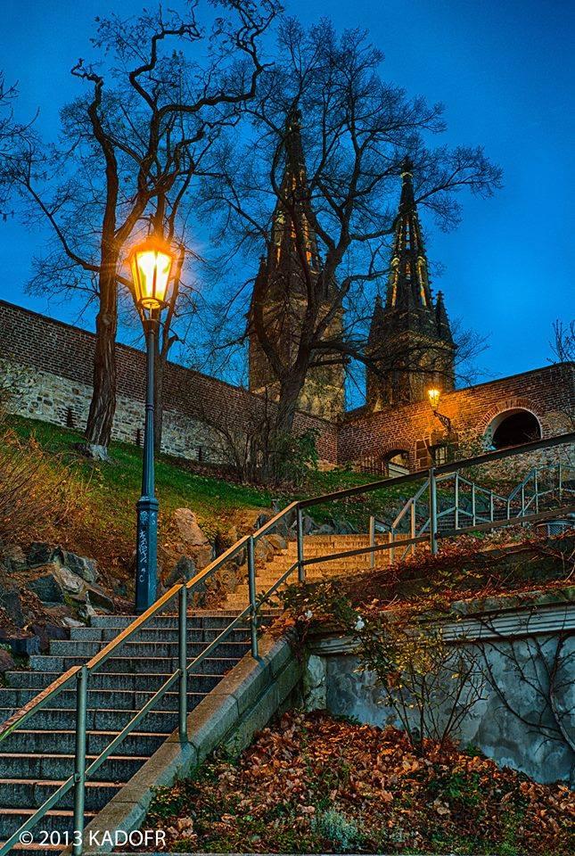 Na schodech k Vyšehradu - Foto: Karel Dobeš