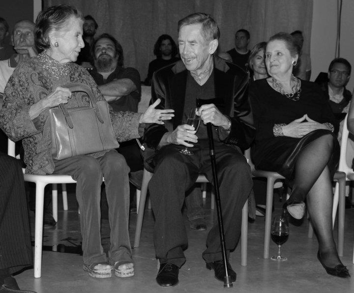Meda Mládková a Václav Havel - Foto: Eugen Kukla
