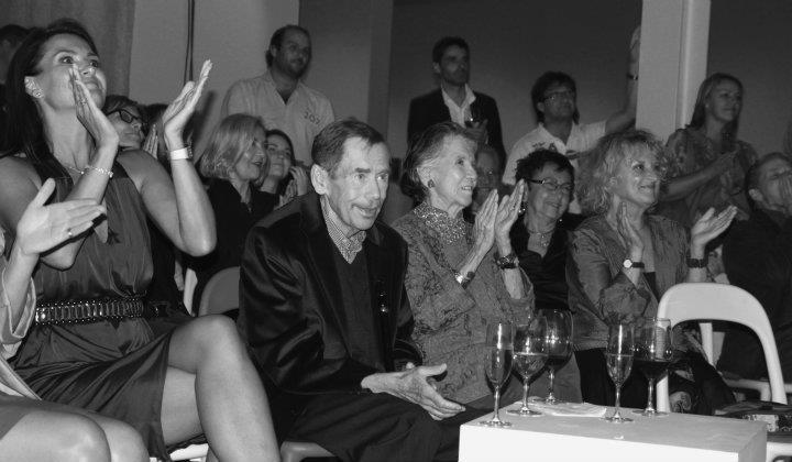 Václav Havel na oslavě svých posleních narozenin - Foto: Eugen Kukla