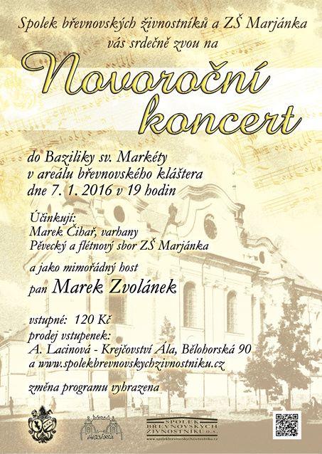 Novoroční koncert v bazilice svaté Markéty na Břevnově