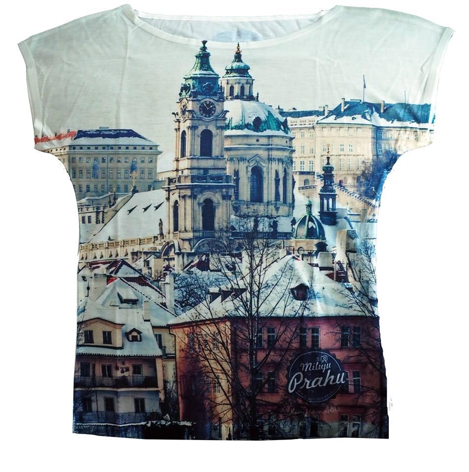 Módní triko Zasněžená Praha by Jan Hamaďák