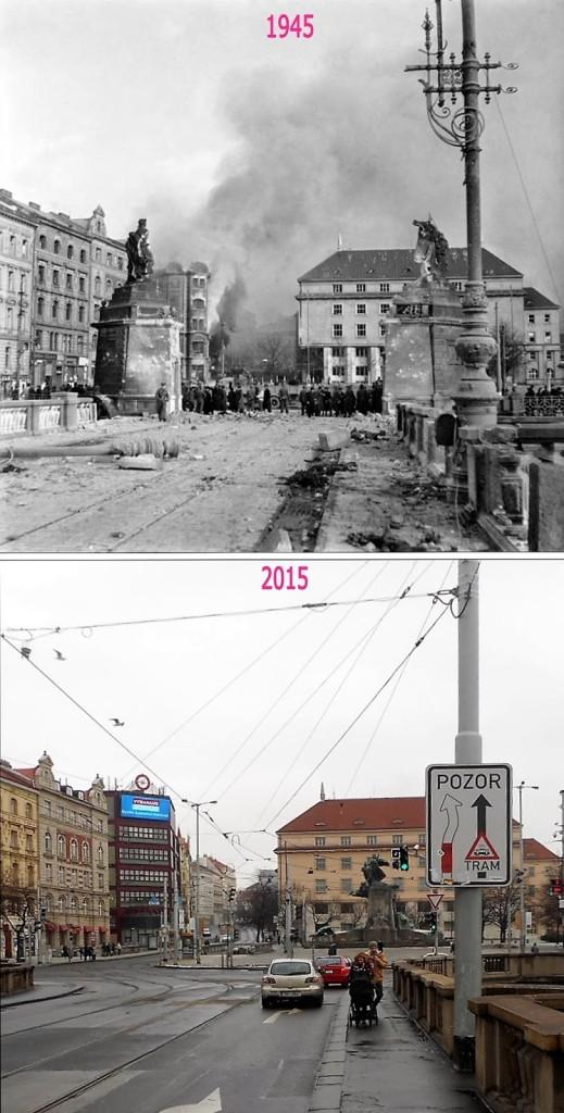 Nové Město, Palackého náměstí – Foto a koláž: Václav Víšek