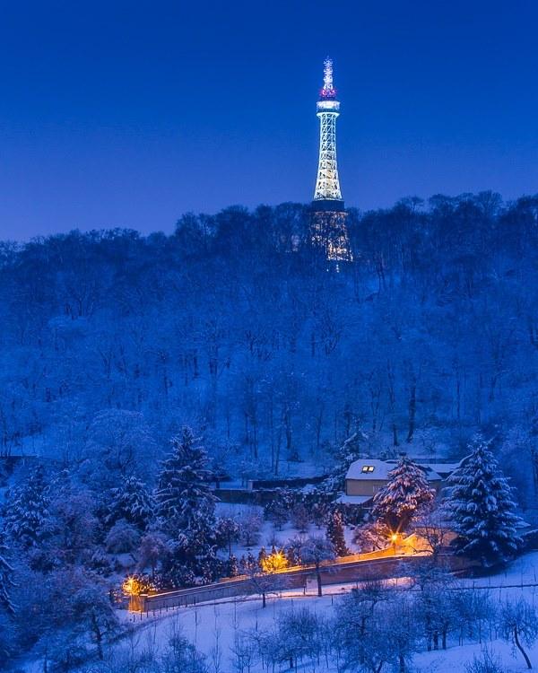 Petřín pod sněhem - Foto: Miguel Alonso