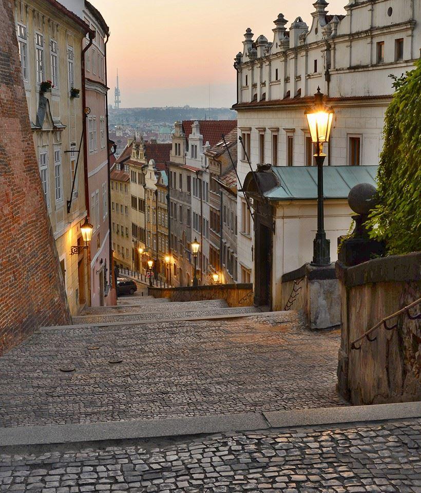 Ráno na Zámeckých schodech - Foto: Tomáš Kubíček