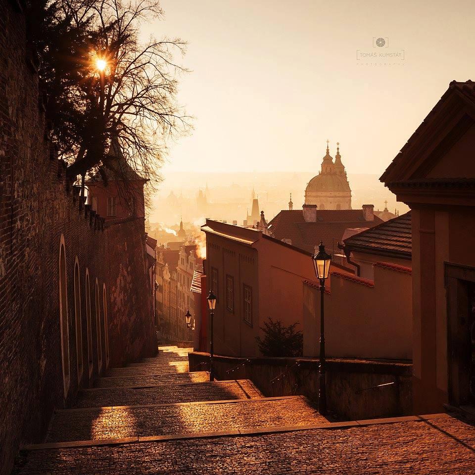 Ráno na Zámeckých schodech - Foto: Tomáš Kumstát