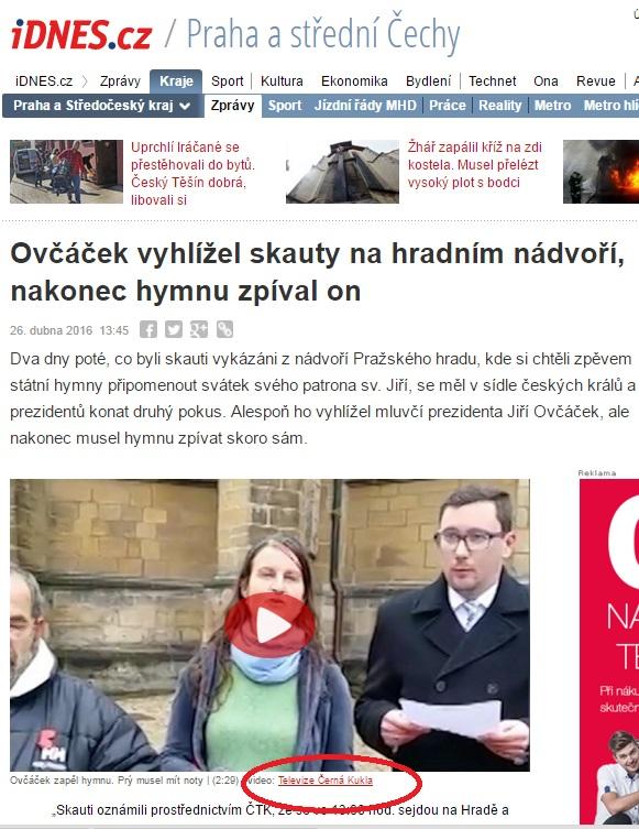 iDnes.cz vysílaá video Televize Černá Kukla - Repo: Facebook Televize Černá Kukla