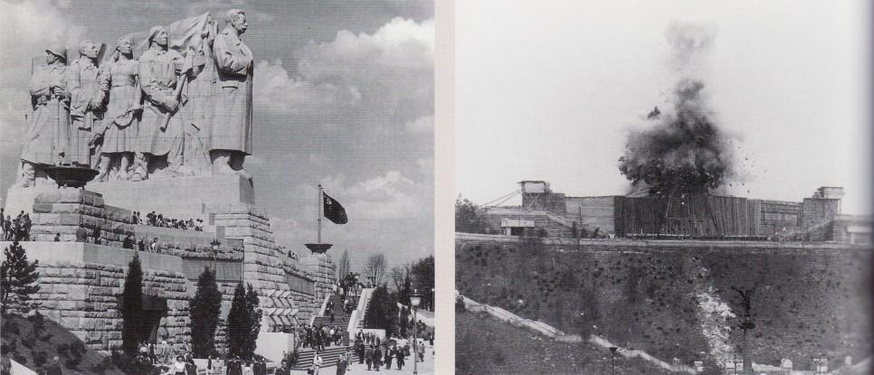 Obří pomník za 140 milionů tehdejších korun stál na svém místě jen 7 let. Při destrukci byl celý obedněn, aby byla demolice co nejméně viditelná pro Pražany