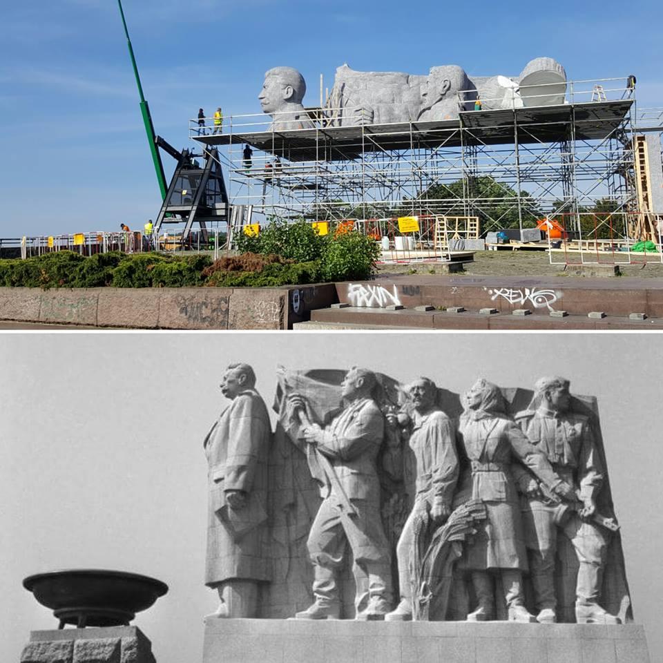 Původní socha byla ve skutečnosti ještě dvakrát větší než replika filmařů - Foto: David Černý - MilujuPrahu.cz
