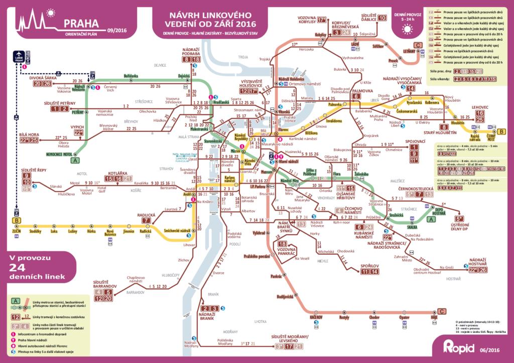 mapa dopravy