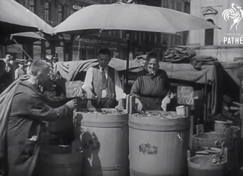 Havelský trh - Foto: Repo z British Pathé