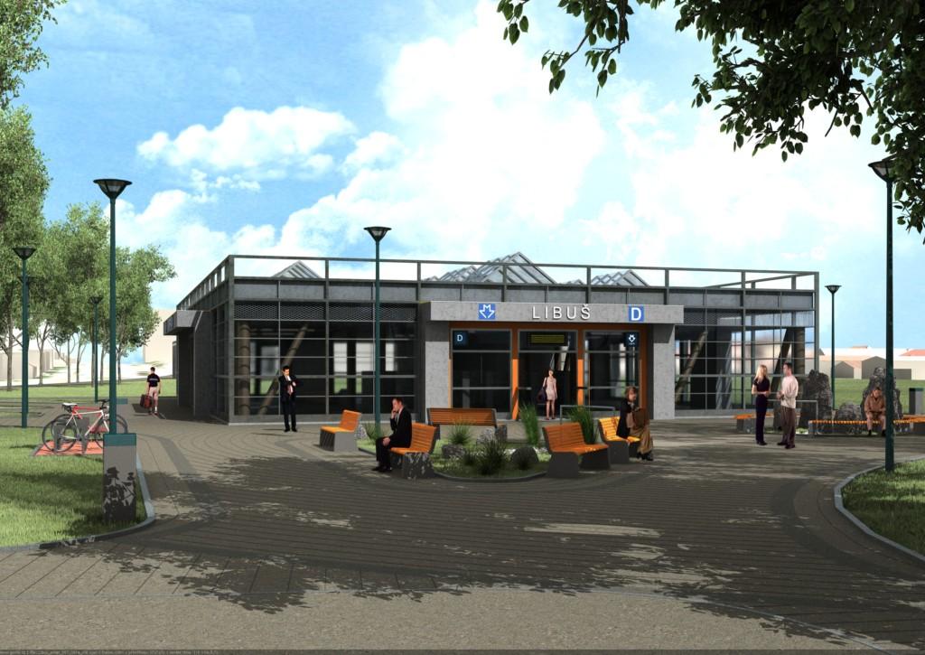 Návrh podoby stanice trasy D Libuš – Vizualizace Metroprojekt