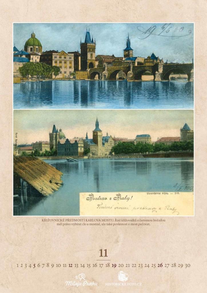 KŘIŽOVNICKÉ PŘEDMOSTÍ KARLOVA MOSTU - Foto: Historicke-foto.cz
