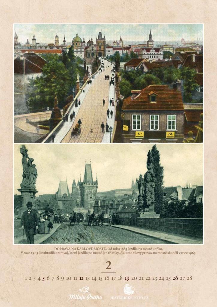 DOPRAVA NA KARLOVĚ MOSTĚ - Foto: Historicke-foto.cz