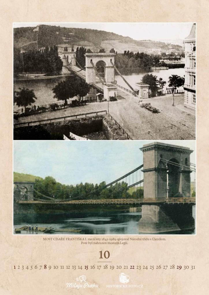 Listopad v kalendáři Mosty staré Prahy - k dostání na eshopu