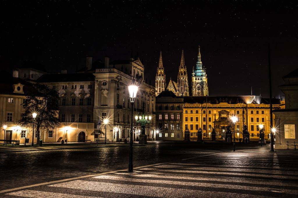 Další večerní focení. Pražský hrad v celé své kráse.- Foto: Milan Bachan