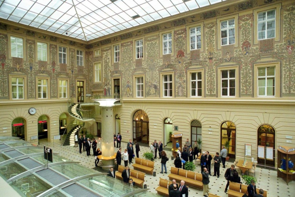 Dvroana hlavního pražského poštovního úřadu - (současný stav)